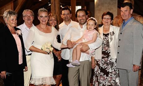 Lenka Hornová a Libor Kodad s rodinou