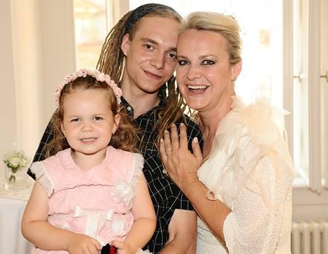 Lenka Hornová se synem Michalem z prvního manželství a dcerou Laurou