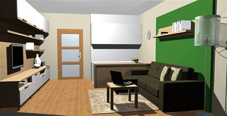 Dvě varianty obývací kuchyně