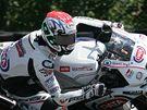 Mistrovství světa superbiků - Jakub Smrž ze stáje Aprillia při tréninku.