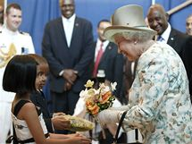 Britská královna Alžběta II. pronesla projev na půdě OSN. Vévoda z Edinburghu naslouchal v publiku. (6. července 2010)