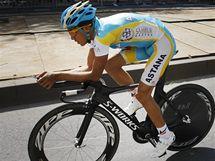 Trénink před startem slavné Tour de France. Alberto Contador