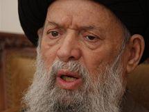 Libanonci oplakávají smrt ajatolláha Fadlalláha (4. července 2010)
