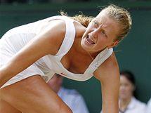 Petra Kvitová v semifinále Wimbledonu proti Sereně Williamsové neuspěla