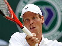 Tomáš Berdych v semifinále Wimbledonu