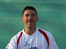 Jan Hájek při tréninku na Davis Cup v Chile