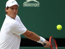 Tomáš Berdych ve finále Wimbledonu