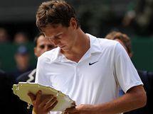 Tomáš Berdych po prohraném finále Wimbledonu