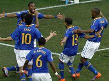 Brazilská Samba se tancovala kousek od branky Nizozemců po gólu Robinha