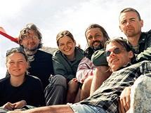 Vladimíra Šumberová s kamarády při putování po Východním Sajanu