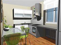 Proměna kuchyně a obývacího pokoje ve dvou variantách