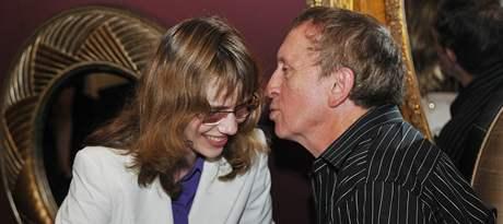 Hana Lipovská z Blanska a spisovatel Ivan Kraus spolu povečeřeli před čtením na Měsíci autorského čtení v brněnském hotelu Comsa