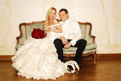 Svatební fotografie Víta Bárty s Kateřinou Klasnovou