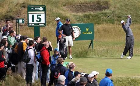Trénink Tigera Woodse na hřišti v St. Andrews před British Open 2010.
