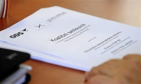 Koaliční smlouva mezi ODS, TOP 09 a VV