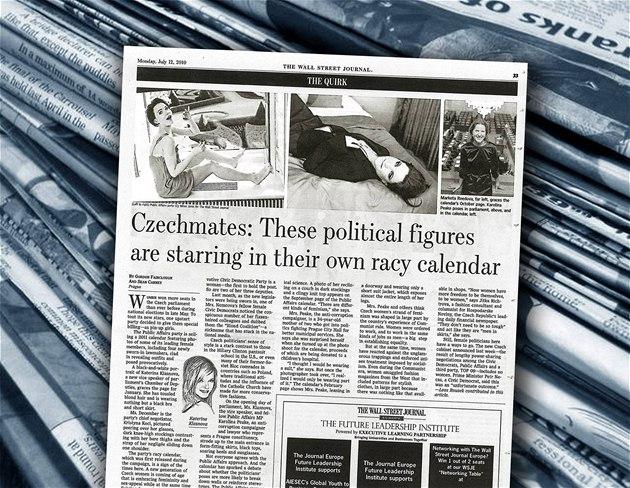 Fotografie politi�ek V�cí ve�ejných v americkém deníku The Wall Street Journal.