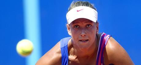 PEKELNÉ SOUSTŘEDĚNÍ. Barbora Záhlavová - Strýcová na turnaji ECM Prague Open