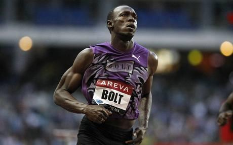 Usain Bolt na mítinku Diamantové ligy v Paříži
