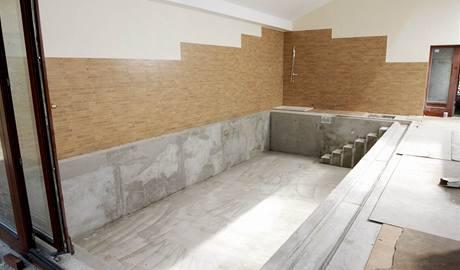 Připravená betonová vana