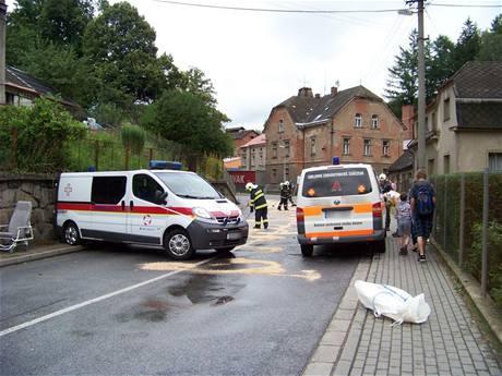 Nehoda sanitek v Batňovicích na Trutnovsku