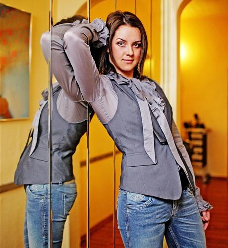 Proměna čtenářky Petry - outfit v pánském stylu