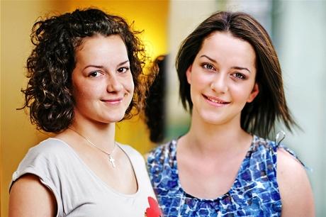 Proměna čtenářky Petry - před (vlevo) a po proměně s rovnými vlasy
