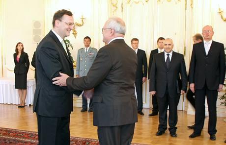 Premiér Petr Nečas navštívil Slovensko. (19. července 2010)