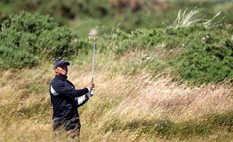 Tiger Woods, trénink na hřišti St.Andrews před British Open 2010.