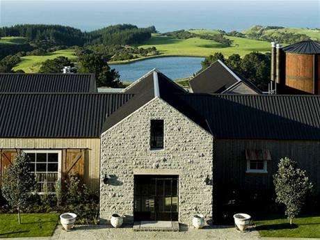 Golfové hřiště Cape Kidnappers na Novém Zélandu, klubovna.