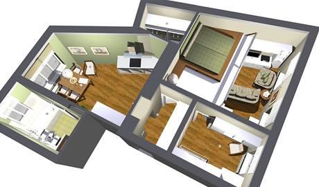 Kompletní rekonstrukce bytu 2+1 v Písku