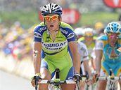 TOP VÝSLEDEK. Roman Kreuziger (vlevo) dojel v osmé etapě Tour de France na 4. místě.