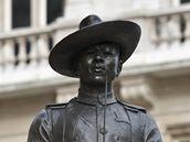 Památník gurkhských vojáků v Londýně.
