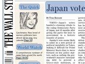 �l�nek o kalend��i �esk�ch politi�ek v�era za��nal z prvn� strany americk�ho den�ku The Wall Street Journal