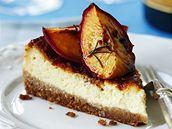 Ricottový koláč s pečenou broskví
