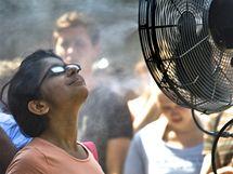 Tropické teploty hlásí i Maďarsko (červenec 2010)