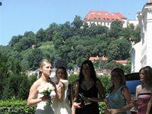 Svatba novomanželů Kateřiny a Michala Kutílkových v Denisových sadech pod Petrovem (10. červenec 2010)