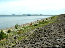 Kamenný násep Otmuchowského jezera, ráj rybářů