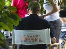 Z natáčení Havlova Odcházení
