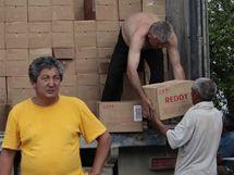 Humanitární pomoc v Kyrgyzstánu.