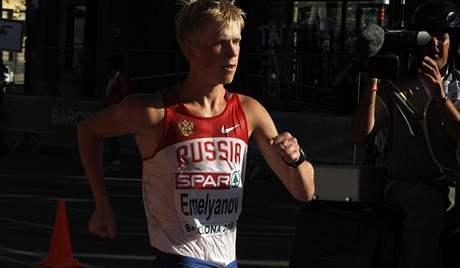 Ruský chodec Stanislav Jemeljanov