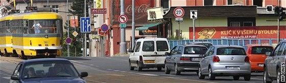 Radar v Plzni na křižovatce ulic Klatovská, Borská, U trati.