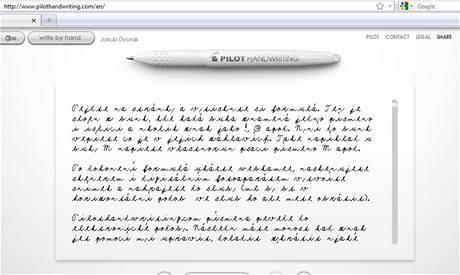Pilothandwriting.com