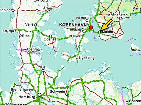 Mapa Malmö