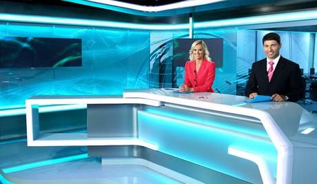 Světlana Zárubová a Roman Fojta v novém studiu TV Prima