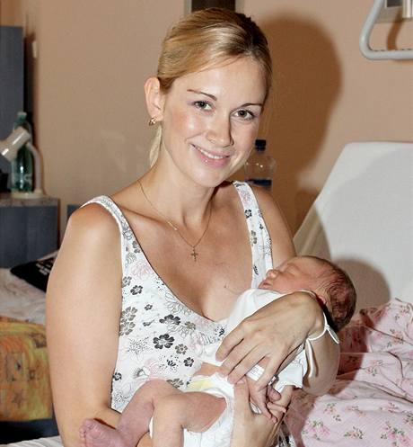 Lucie Kvasnicová se synem Michalem