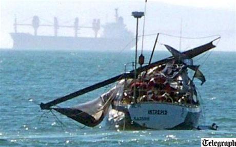 Srážku s velrybou loď odnesla jen zlomeným stožárem.