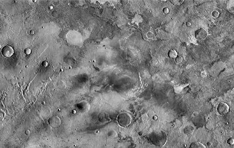 Podrobná satelitní mapa Marsu