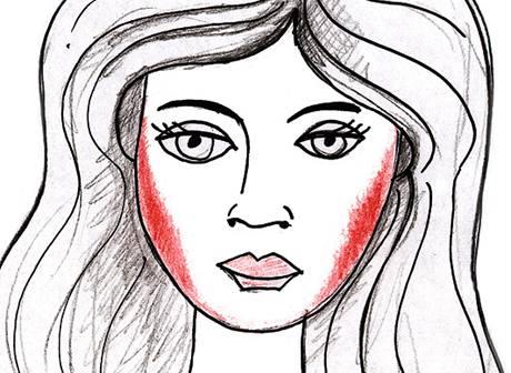 Jak nanášet make-up na kulatý obličej