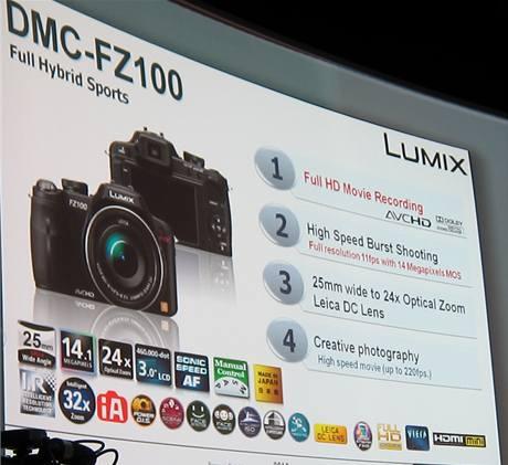 Prezentace fotoaparátu Panasonic Lumix FZ100