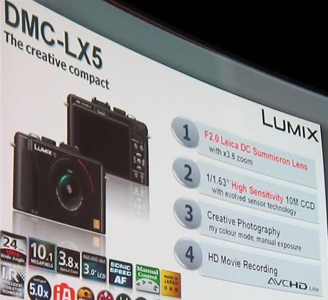 Prezentace fotoaparátu Panasonic Lumix LX5